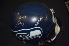 Tre Flowers Signed Seahawks Regular Full Size Football Helmet w/2018 Rc! Inscription