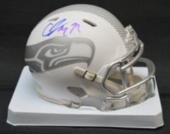Christine Michael Seahawks Autographed ICE Mini Helmet w/JSA