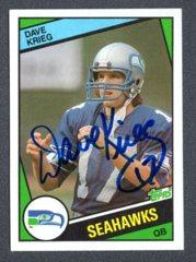 1984 Topps #195 Dave Krieg Rc Autograph