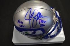 Jim Zorn Autographed Mini Helmet With Inscription