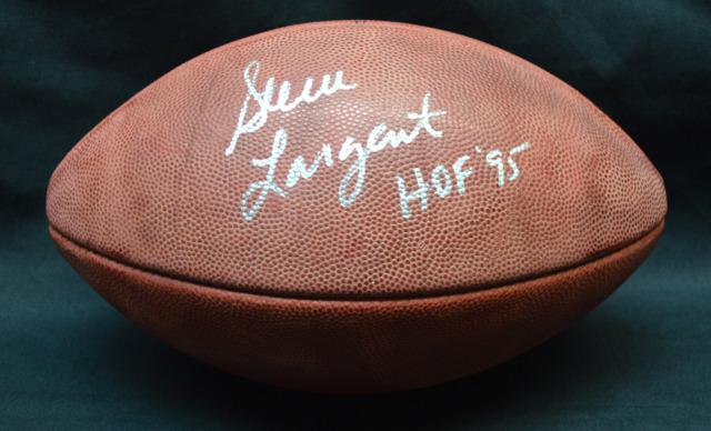 Steve Largent Seahawks Autographed NFL Football
