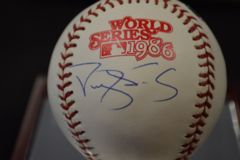 Darryl Strawberry Signed Auto 86' World Series Baseball Steiner MLB COA BB 273