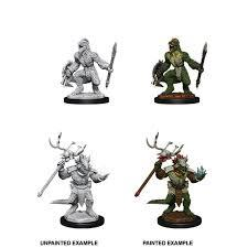 Nolzur`s Marvelous Unpainted Miniatures: W12 Lizardfolk & Lizardfolk Shaman