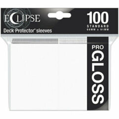Ultra Pro Eclipse Gloss Sleeves - Arctic White - 100ct