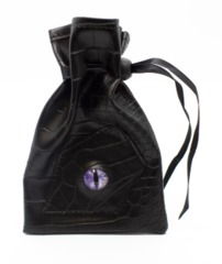 Old School Dice: Dragon Eye Dice Bag - Black Dragon