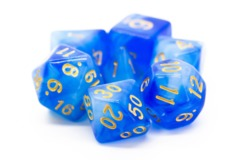 Old School RPG Dice Set: Nebula - Blue