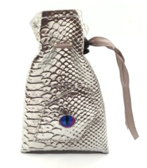 Old School Dice: Dragon Eye Dice Bag - Silver