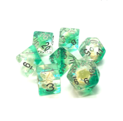 Old School RPG Dice Set: Infused - Beach Party Aqua