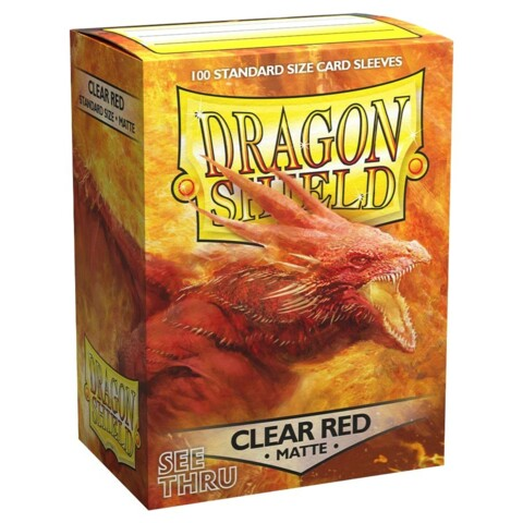 Dragon Shield Sleeves: Matte Clear Red (Box Of 100)