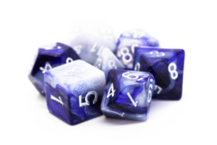 Old School RPG Dice Set: Vorpal - Purple & Grey