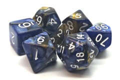 Old School RPG Dice Set: Vorpal - Blue & Gold
