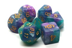Old School RPG Dice Set: Galaxy - Northern Lights