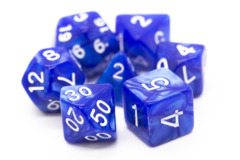 Old School RPG Dice Set: Pearl Drop - Blue