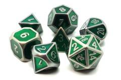 Old School RPG Metal Dice: Elven Forged - Metallic Green