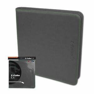 BCW Z-Folio 12-Pocket LX Album - Grey