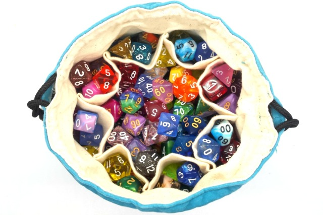 Old School Dice: Bag of Many Pouches Dice Bag - Teal