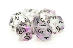 Old School RPG Dice Set: Luminous - Silver Stream