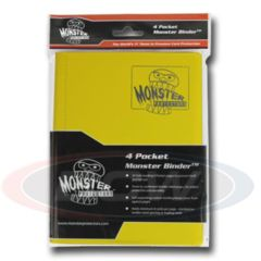 Monster Protectors 4 Pocket Matte Yellow Binder