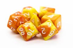 Old School RPG Dice Set: Vorpal - Orange & Yellow