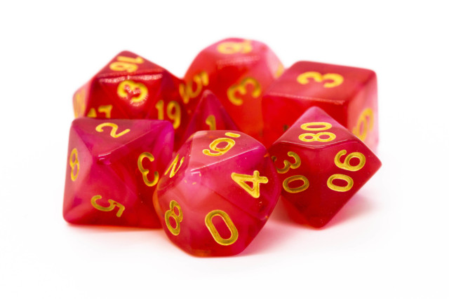 Old School RPG Dice Set: Nebula - Red