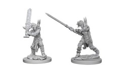 Pathfinder Battles Unpainted Minis - Female Human Barbarians