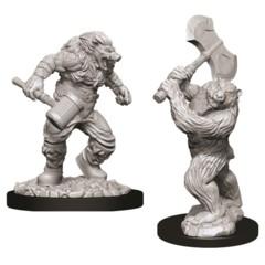 Nolzur's Marvelous Unpainted Miniatures - Wereboar & Werebear