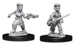 Deep Cuts Unpainted Minis - Female Halfling Rogue