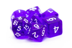 Old School RPG Dice Set: Translucent Purple