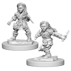 Dungeons And Dragons: Nolzur's Marvelous Unpainted Miniatures - Halfling Female Rogues