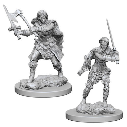 Dungeons And Dragons: Nolzurs Marvelous Unpainted Miniatures - Human Female Barbarians
