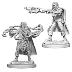 Dungeons And Dragons: Nolzur's Marvelous Unpainted Miniatures - Human Male Sorcerers