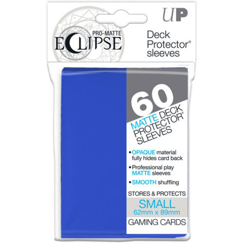 Ultra Pro Eclipse Small Blue Matte Sleeves 60Ct