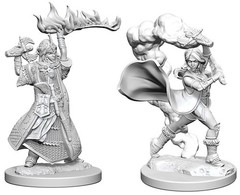 Pathfinder Battles Unpainted Minis - Human Female Cleric