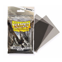 Dragon Shield Sleeves:  Perfect Fit-Smoke (100)