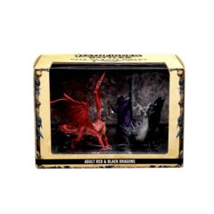City Of Lost Omens Premium Figure – Red & Black Dragons