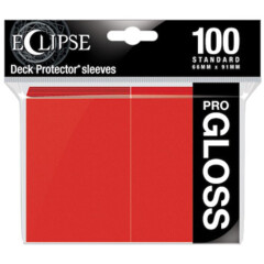 Ultra Pro Eclipse Gloss Sleeves - Apple Red - 100ct