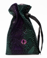 Old School Dice: Dragon Eye Dice Bag - Spectral Dragon - Green & Purple