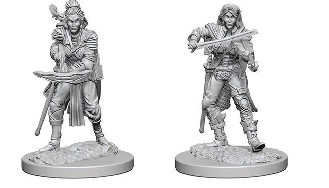 Elf Female Sorcerer Pathfinder Deep Cuts Unpainted Miniatures
