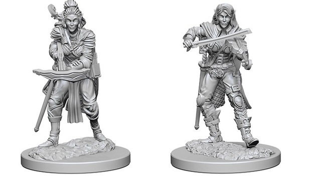 Pathfinder Battles Unpainted Minis - Elf Female Bard
