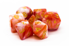 Old School RPG Dice Set: Vorpal - Red & Ivory w/ Gold
