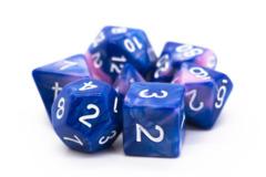 Old School RPG Dice Set: Vorpal - Blue & Pink