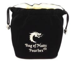 Old School Dice: Bag of Many Pouches Dice Bag - Black