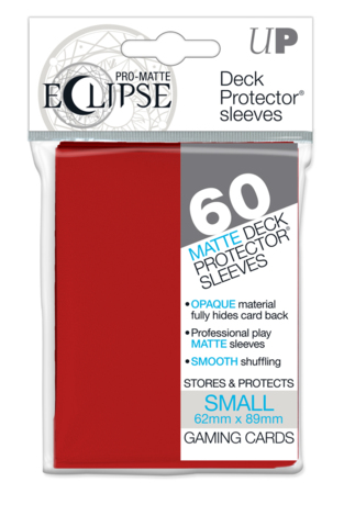 Ultra Pro Eclipse Mini Matte Sleeves - Apple Red - 60ct