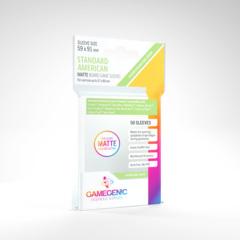 Gamegenic - Standard American Matte Board Game Sleeves - 50ct (Green)