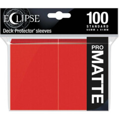 Ultra Pro Eclipse Matte Sleeves - Apple Red - 100ct