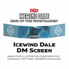 D&D Icewind Dale Rime of the Frostmaiden DM Screen