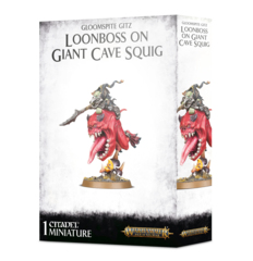 Gloomspite Gitz: Loonboss on Giant Cave Squig