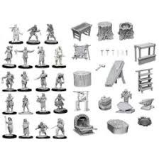 Deep Cuts Unpainted Minis - Townspeople & Accessories