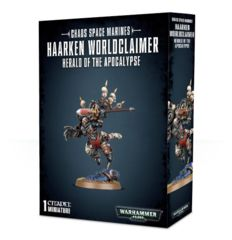 Chaos Space Marines Haarken Worldclaimer - Herald of the Apocalypse