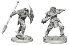 D&D Unpainted Minis - Dragonborn Male Fighter with Spear